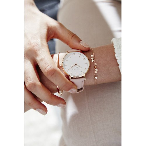 Rosefield Watches - The Bowery White Pink Rosegold