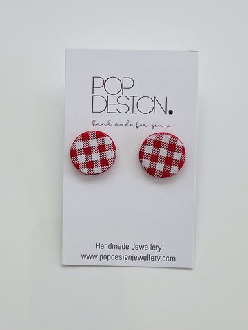 Pop Design - Gingham Studs - Red