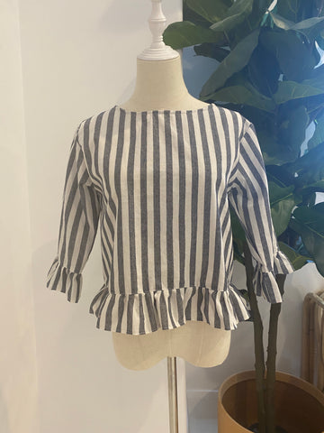 LJC Design - Fred Top - Navy Stripes