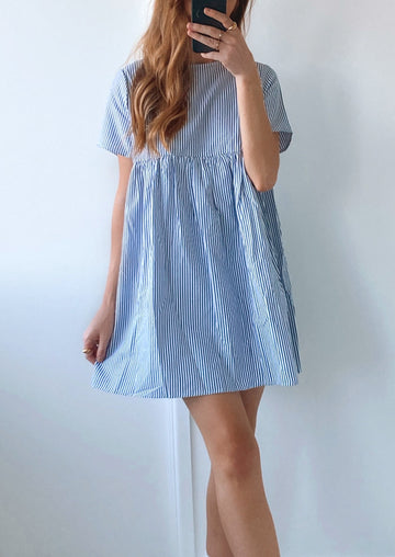 Amorini The Label - Candy Stripe Dress - Blue