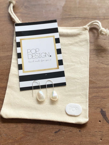 Pop Design - Fresh Water Pearl Earring - Hannah