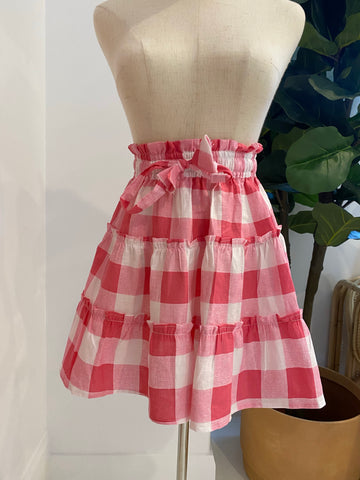 LJC Designs - Zanzibar Skirt - Pink Check