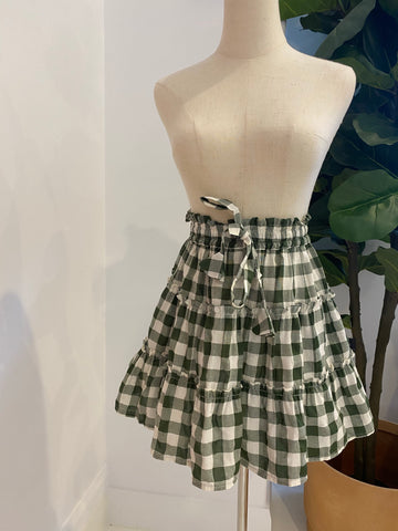 LJC Designs - Zanzibar Skirt - Olive Check