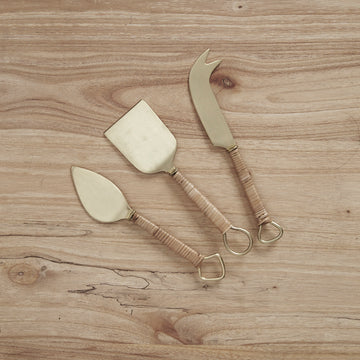 Inartisan - Thalia Rattan Handle Cheese Set