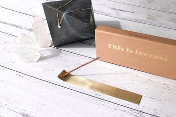 This is Incense - Gold Incense Holder by Kirsty Lief