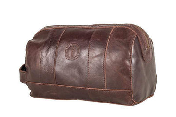 Indepal - Watson - Leather Toiletry Bag - Crazy Horse Brown