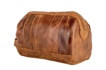 Indepal - Watson - Leather Toiletry Bag - Dusty Antique
