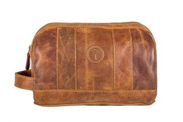 Indepal - Watson - Leather Toiletry Bag - Crazy Horse Tan