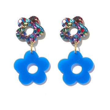 Emeldo - Lola Flowers - Rainbow with Royal Blue