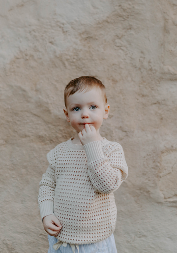 MIANN & CO KIDS - OPEN KNIT JUMPER