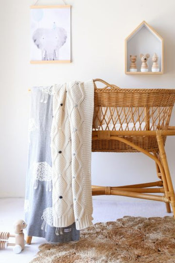 Di Lusso - Lucy Baby Blanket - Natural