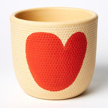 Jones & Co - Heart Pot Red