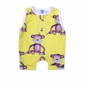 Cheeky Chickadee - Monkey Playsuit