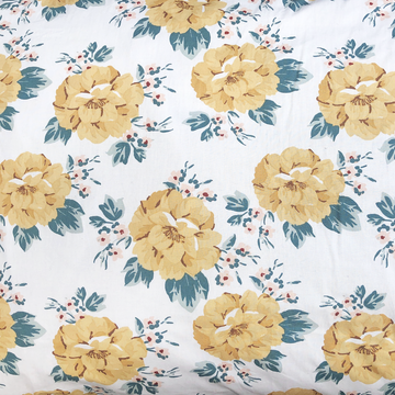 Miann & Co - MUSTARD FLORAL FITTED COT SHEET
