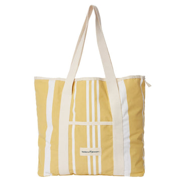 Business & Pleasure - The Beach Bag - Vintage Yellow Stripe
