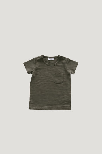 Jamie Kay - Slub Cotton Sam Tee - Hunter