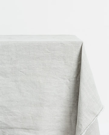 Papaya - BAY LINEN TABLECLOTH RECTANGLE - LIGHT GREY
