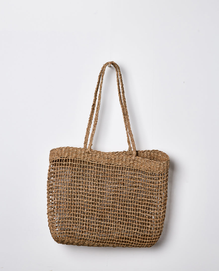 Papaya - LALLY WOVEN TOTE - Large