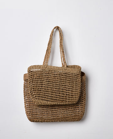 Papaya - LALLY WOVEN TOTE - Small