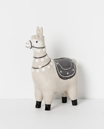 Papaya - NORTH POLE CERAMIC LLAMA MONEY BOX