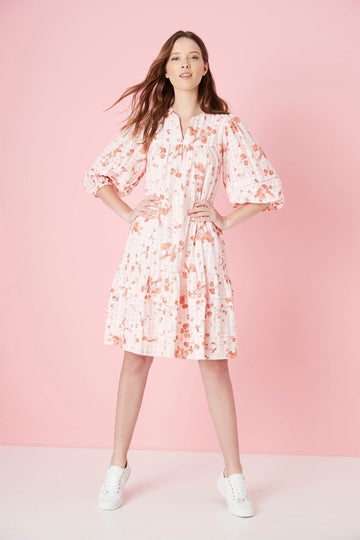 Elms + King - Gloucester Dress - Red Summer Floral