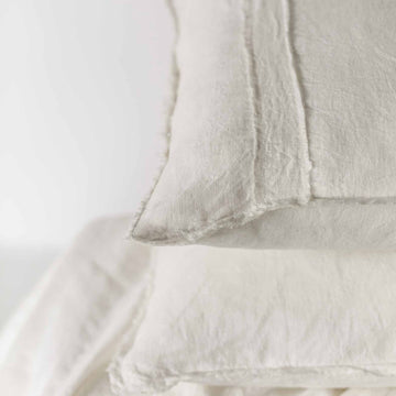 Eadie Lifestyle - Linen Pillow Case Set - White