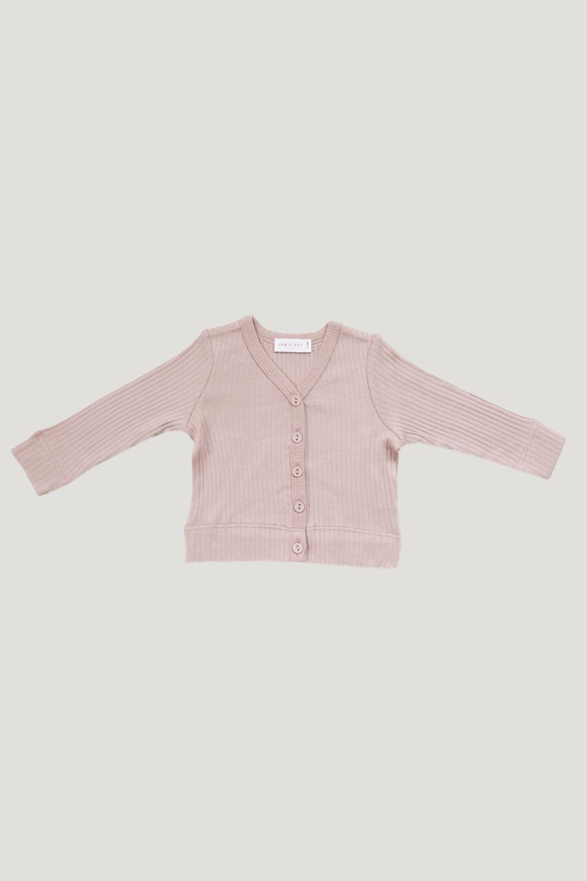 Jamie Kay - Cotton Modal Cardigan - Rose Smoke