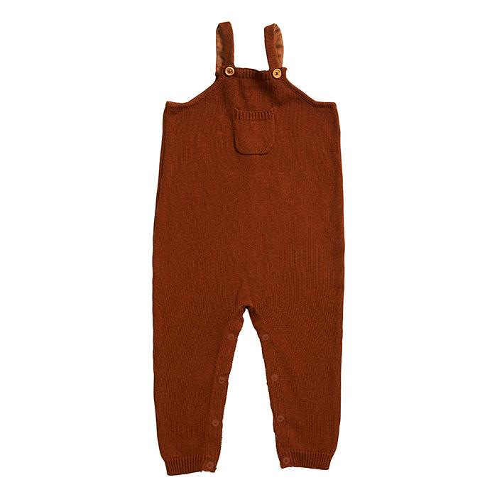 Miann & Co - Rust Knit Overalls
