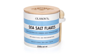 Olsson's Salt - OLSSON'S SEA SALT FLAKES STONEWARE JARS 250g