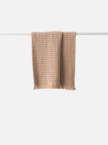 Citta - Waffle Organic Cotton Kitchen Towel - Latte