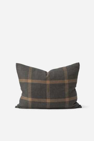Citta - Grid Woven Linen Cushion with Feather Insert