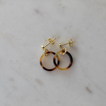 Sophie - Little Tort Hoops Dark - Gold