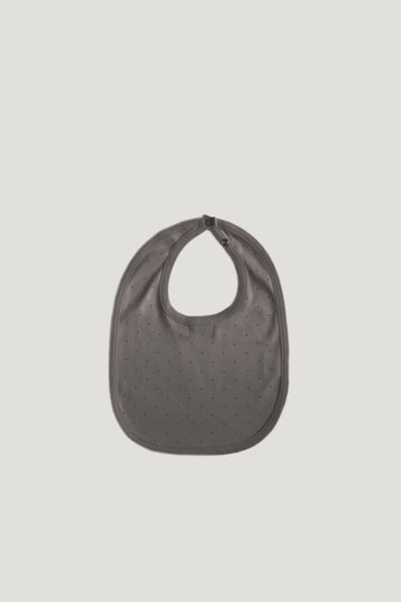 Jamie Kay - Tiny Dots Bib - Ash Grey