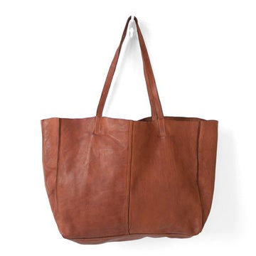 Juju & Co - Monterey Leather Tote - Cognac