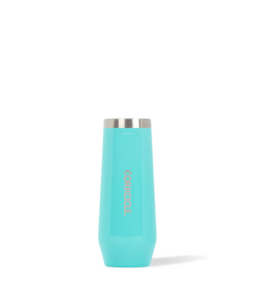 Corkcicle - Stemless Champagne Flute - Turquoise