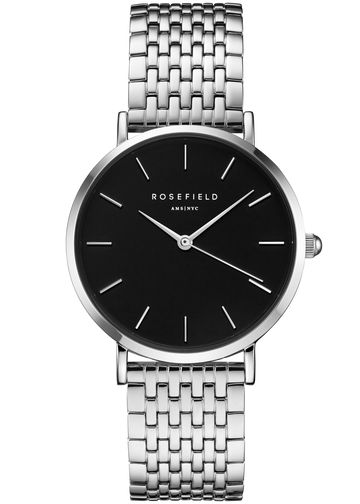 Rosefield Watches - The Upper East Side Black Silver