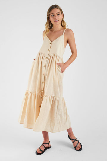 IDS - Linsey Midi Dress - Beige