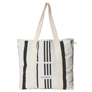 Business & Pleasure Co - The Beach Bag - Vintage Black Stripe