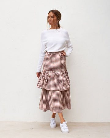 FL Basics - Ariel Skirt - Chocolate