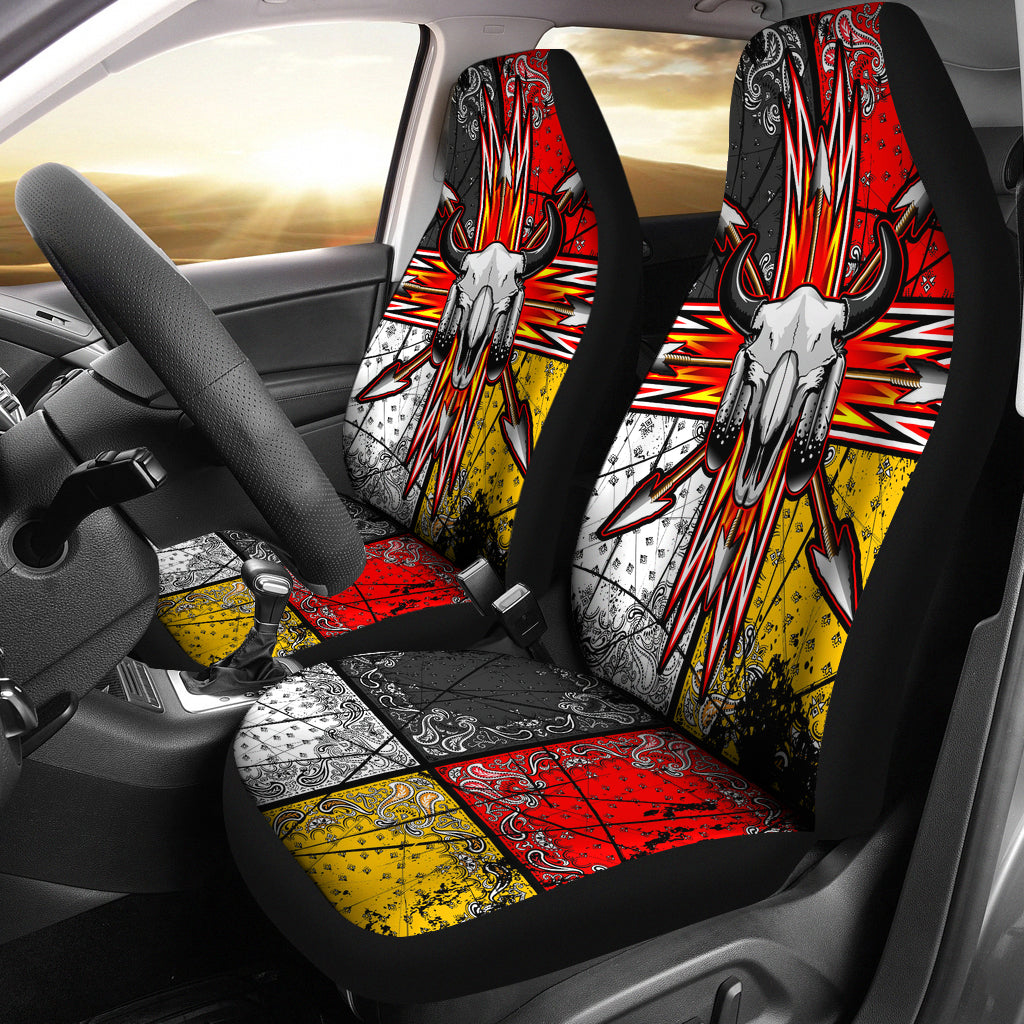native american 3d bison arrow two seat covers. Black Bedroom Furniture Sets. Home Design Ideas