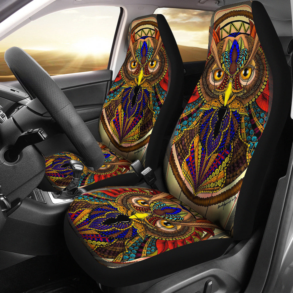 Native American Owl Colors Car Seat Covers