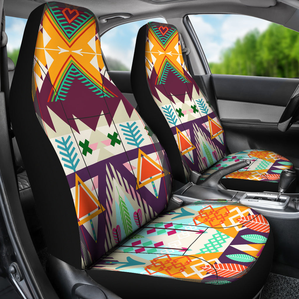Native American Tribal Seamless Background Car Seat Cover
