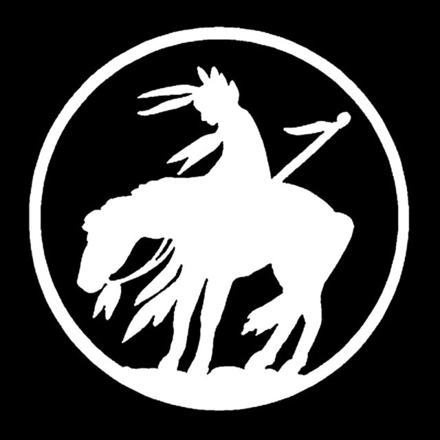 Native American Warrior On Horse Decal Sticker Bestofnative