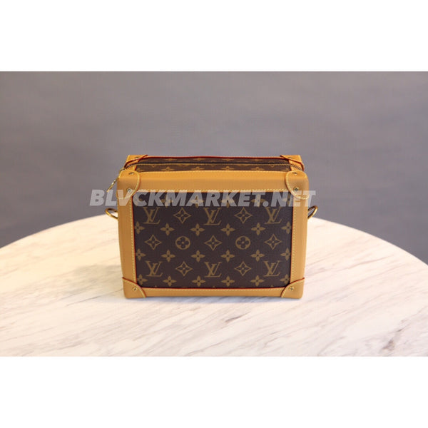 Soft Trunk Monogram Gold-Tone Brown