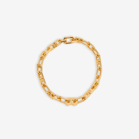 B CHAIN THIN NECKLACE GOLD