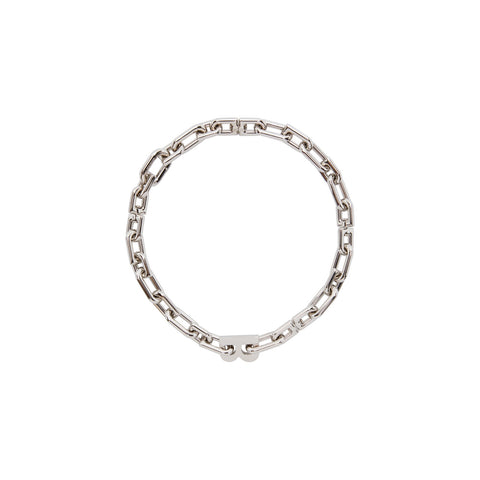 B CHAIN THIN NECKLACE SILVER