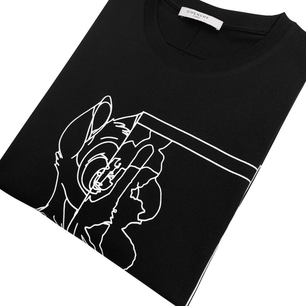Givenchy Black Bambi Tee