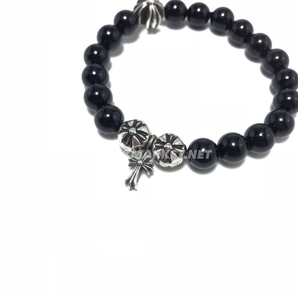 CHROME HEARTS ONYX BEAD BRACELET