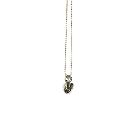 HEART PENDANT WITH BALL CHAIN NECKLACE