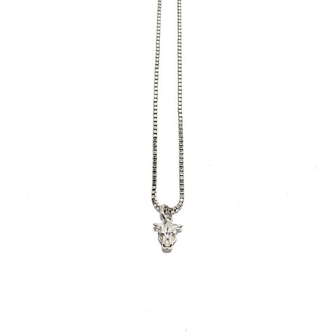 GUCCI ANGER FOREST BULL'S HEAD NECKLACE